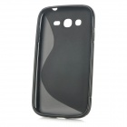 """S"" Style Protective TPU Back Case for Samsung Galaxy Grand Duos i9082 / i9080 - Black"