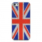 UK Flag Pattern Protective ABS Back Case for iPhone 5 - Red + White + Blue