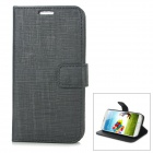Stylish Protective PU Leather Case for Samsung Galaxy S4 i9500 - Black