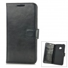 Protective PU Leather Case for HTC One M7 - Black