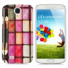 Make-up Case Pattern Protective Plastic Back Case for Samsung i9500 - Multicolored