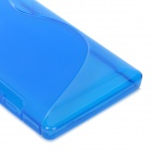 """S"" Style Protective Silicone Back Case for Sony Xperia SP M35h - Blue"