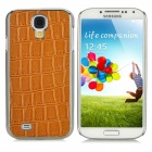 Crocodile Skin Pattern Protective PC Hard Back Case for Samsung Galaxy S4 i9500 - Brown