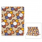 Cute Flower Pattern Protective PU Leather Case for Ipad 2 / 4 - White + Blue + Coffee
