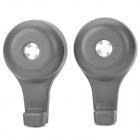 3L-03022 Multifunction Rotary Car Seat Chair Hook for Items - Grey (2 PCS)