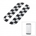Chessboard Pattern Replacement Top + Bottom Glass Back Cover for iPhone 5 - Black + White