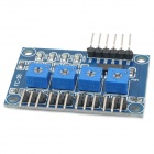 Car Infrared 4-CH Tracking / Obstacle Avoidance Sensor Module for Arduino - Black + Blue