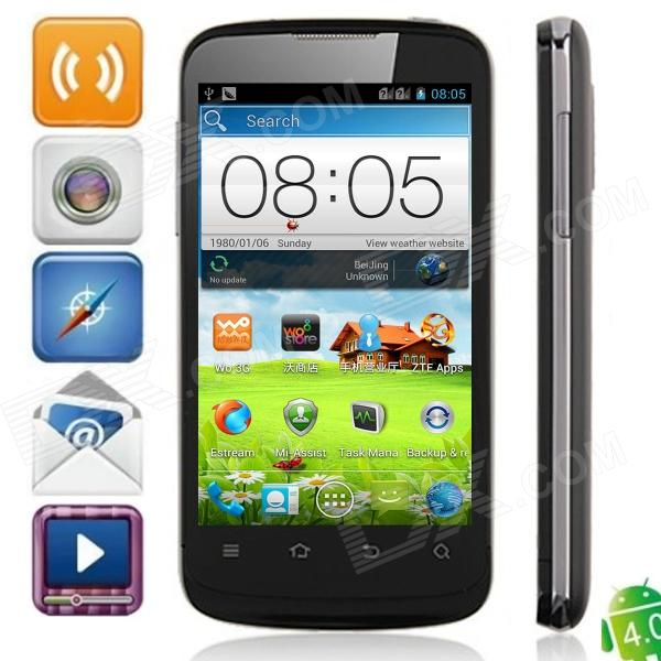 ZTE V889F MSM8225 Dual-Core Android 4.0.4 WCDMA Bar Phone w/ 4.0″, Wi-Fi and GPS – Black
