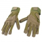 Outdoor Mountaineering Full-finger Warm Gloves - Military Green (Size L / Pair)