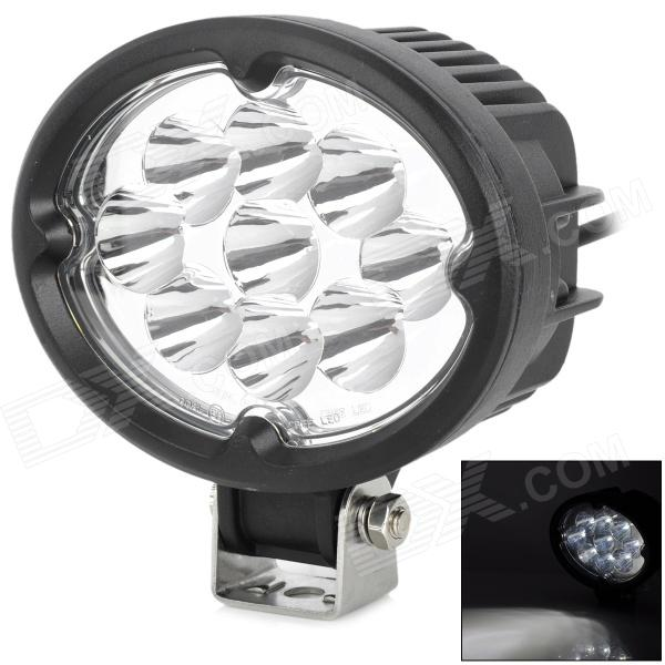 27W 2100lm 6500K White Light Car Work Lamp w/ 9-Cree LED - Black