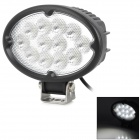 36W 2800lm 6500K 12-Cree In-Line LED White Light Working Light - Black