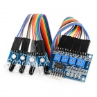 4 Channel Infrared Obstacle Avoidance Sensor Module for Smart Car - Blue
