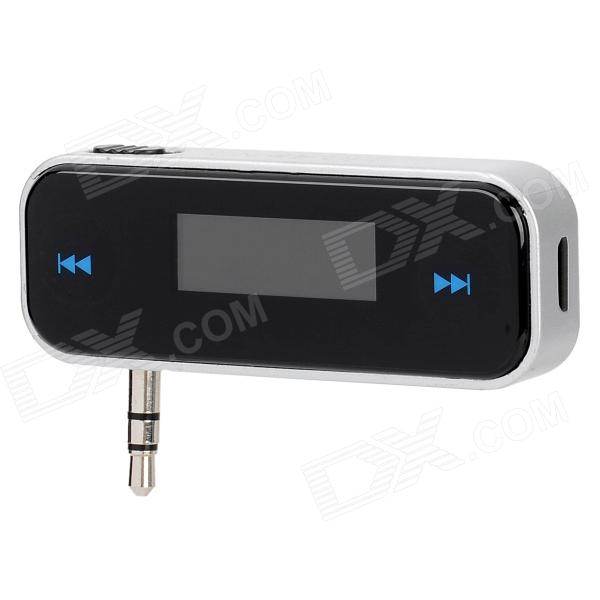 BFM26 3.5mm Plug Handsfree FM Transmitter for Iphone 4S - Black + Silver Grey  (5V)