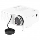 UC28 Mini Portable LED Projector w/ HDMI / VGA / AV-in / USB / SD - White