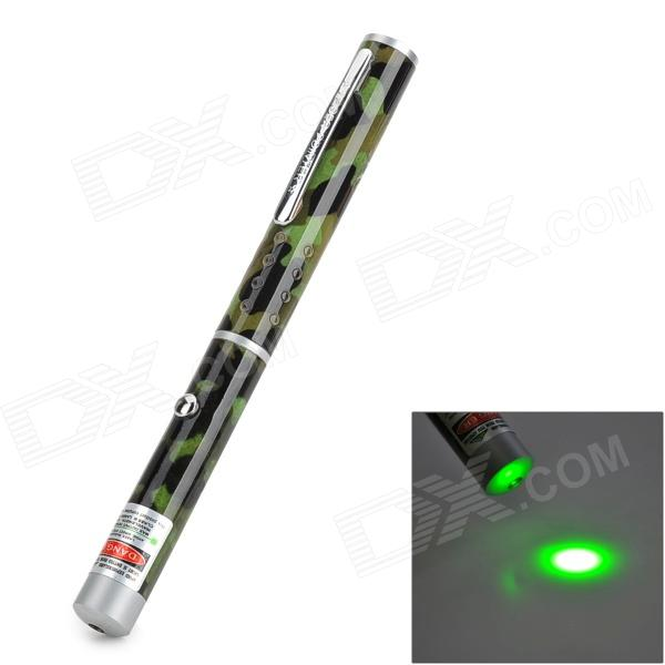 5mW 532nm Single Dot Green Laser Pointer - Camouflage Green (2 x AAA)