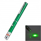 5mW 532nm Single Dot Green Laser Pointer w / Clip - Grün + Silber (2 x AAA)