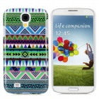 "Protective ""W"" Shape Tribal Tattoo Pattern Plastic Back Case for Samsung S4 / i9500 - Multicolor"