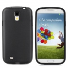 Protective Aluminum Alloy + Silicone Back Case for Samsung Galaxy S4 / i9500 - Black