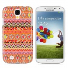Protective Tribal Tattoo Pattern Plastic Case for Samsung S4 / i9500 - Multi-color