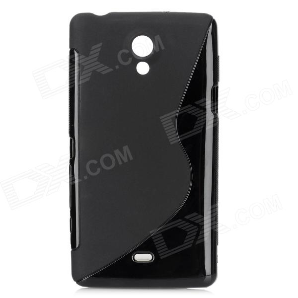 Protective PVC Matte Case for Sony LT30p / Xperia T - Black