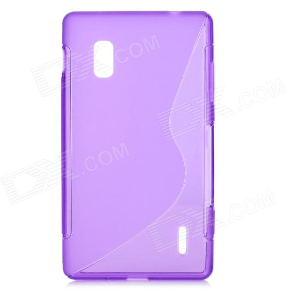 Protective Matte PVC Case for LG E970/Optimus G - Purple sports stylish gym armband case for lg nexus e960 e970 optimus g black