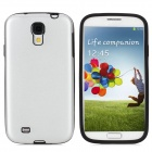 Protective  Aluminum Alloy + Silicone Back Case for Samsung Galaxy S4 / i9500 - Silver + Black