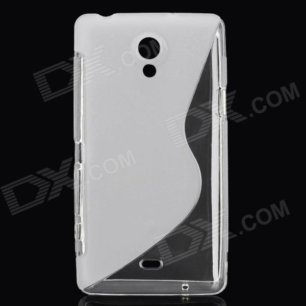 Protective PVC Matte Back Case for Sony LT30p / Xperia T - White matte protective pe back case for htc one x s720e white