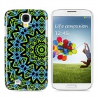 Protective Round Tribe Tattoo Pattern Back Case for Samsung Galaxy S4/I9500  - Green + Blue + Yellow