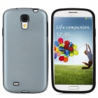 Protective Aluminum Alloy + Silicone Back Case for Samsung Galaxy S4/I9500 - Distant Blue