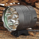 NEW-377 5 x Cree XM-L T6 1600~2000lm 5-Mode White Bicycle Light Headlamp - Grey (4 x 18650)