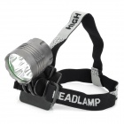 NEW-377 2000lm 5-Mode White Bicycle Light Headlamp w/ 5 x Cree XM-L T6 - Grey (4 x 18650)