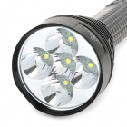 UltraFire 5T6 2000lm 5-Mode White Flashlight w/ 5 x Cree XM-L T6 - Black (3 x 18650 / 26650)