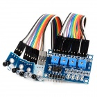 4 Channel Infrared Tracking Sensor Module for Smart Car - Blue + Black