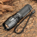 UltraFire CREE XM-L T6 600lm 5-Mode White Zooming Flashlight - Black (1 x 18650 / 26650)