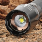 UltraFire 600lm 5-Mode White Zooming Flashlight w/ CREE XM-L T6 - Black (1 x 18650 / 26650)