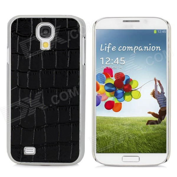 Protective Alligator Pattern PC Back Case for Samsung Galaxy S4 / i9500 - Black protective cute spots pattern back case for samsung galaxy s4 i9500 multicolored