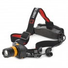 MY-RJ0183 3-Mode 100lm Convex Lens LED Headlamp w/ CREE Q3, Charger Set - Black + Golden (1 x 18650)