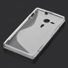 S-Shape Pattern Protective Silicone Back Case for Sony M35h - Translucent White