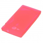 Protective Silicone Back Case for Sony M35H M35T C530X  - Deep Pink