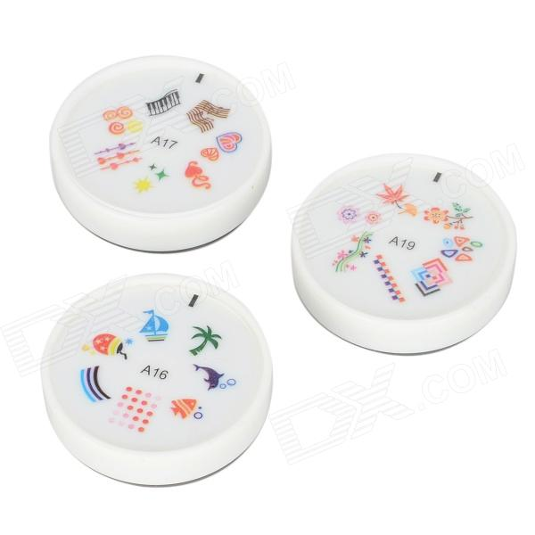 DIY Nail Art Printing Stamp Set - Multi-color (A16/A17/A19) - DXNail Care &amp; Art<br>Brand No Color Multi-color Material Silicone Quantity 3 Functions Nail printing stamp easy to use Packing List 3 x Nail Art Printing Stamps<br>