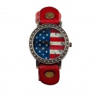 BOBO B-1941 Fashionable Retro Women's Quartz Watch - Red + Blue + Write (1 x LR626)