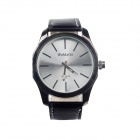 WoMaGe 9449 PU Leather Band Stainless Steel Dial Quartz Analog Men's Wrist Watch - Black (1 x LR626)