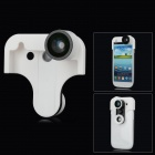Wide_Anlge_+_Macro_Lens + Front / Back Fish Eye Lens for Samsung i9300 Galaxy S3 - White + Black