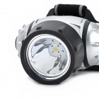 1W 70lm LED 3-Mode White Fishing Headlamp - Silver + Black (3 x AAA)
