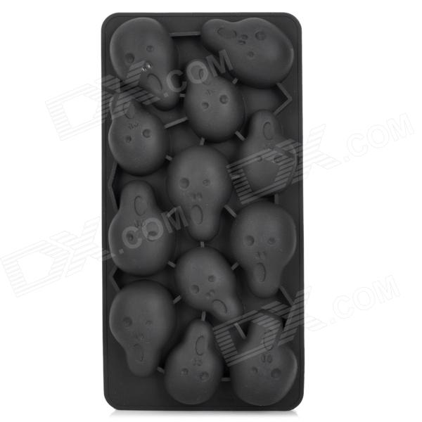 Creative Yelling Face Style Ice Cube Tray Mold - Black 3d silicone ice cube mold tray maker for home
