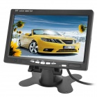 Buy Wireless 2.4G Car 7 inch LCD Rearview Monitor + CMOS Camera 7-LED IR Night Vision Kit - Black