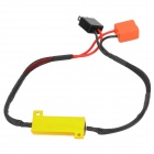50W H7 carro LED Decoder Luz - Golden + Black + Red