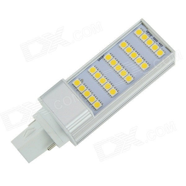 G24 5W 120lm 3500K 24-SMD 5050 LED Warm White Light Bulb - Silver + White