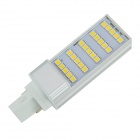 G24 5W 120lm 3500K 25-SMD 5050 LED Warm White Light Bulb - Silver + White