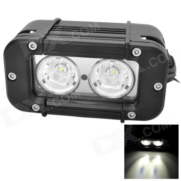 20W 1900lm 6000K White Car Working / Dome / Daytime Running Light w/ 2-Cree XM-L T6 1430lm 4 mode white bicycle headlamp w 3 x cree xm l t6 black silver